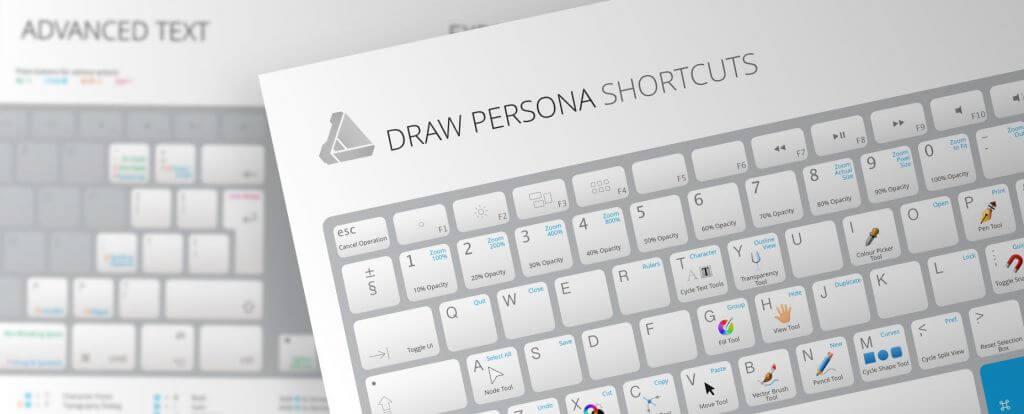 Keyboardvorlagen für Affinity Designer und Affinity Photo