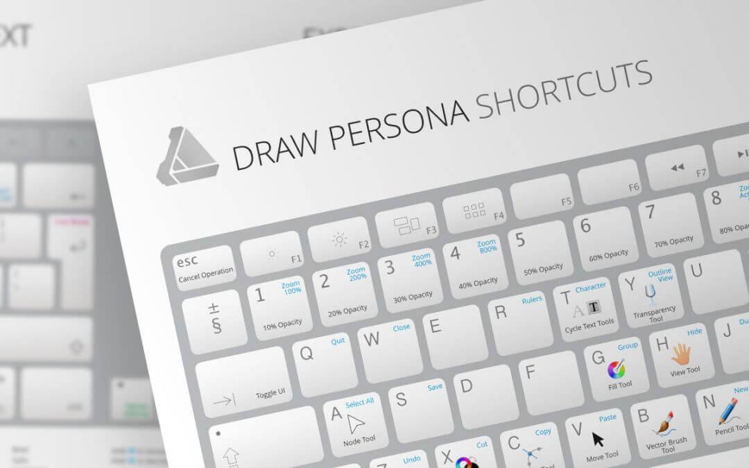 Umfangreiche Keyboardvorlagen für Affinity Designer und Affinity Photo kostenlos erhältlich